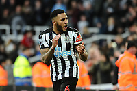 Jamaal Lascelles of Newcastle United celebrates at the final whistle during Newcastle United vs Manchester United, Premier League Football at St. James' Park on 11th February 2018