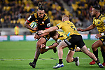 Chiefs' Sean Wainui in action during the Super Rugby - Hurricanes v Chiefs at Westpac Stadium, Wellington, New Zealand on Friday 13 April 2018.<br /> Photo by Masanori Udagawa. <br /> www.photowellington.photoshelter.com