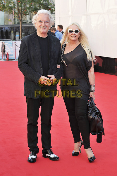 Billy Connolly & Pamela Stephenson.Arrivals to the UK Premiere of 'George Harrison: Living In The Material World' at BFI Southbank, London, England..October 2nd, 2011.full length black glasses moustache mustache facial hair sheer top two tone shoes married husband wife sunglasses shades.CAP/MAR.© Martin Harris/Capital Pictures.