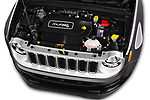 Car stock 2018 Jeep Renegade Limited 5 Door SUV engine high angle detail view