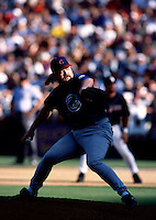Rod Beck of the Chicago Cubs participates in a baseball game at Qualcomm Stadium during the1998 season in San Diego, California. (Larry Goren/Four Seam Images)