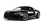 Stock pictures of low aggressive front three quarter view of 2017 Audi R8 quattro 2 Door Coupe