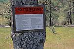 No Trespassing sign, Isabel Valley, Santa Clara County, California