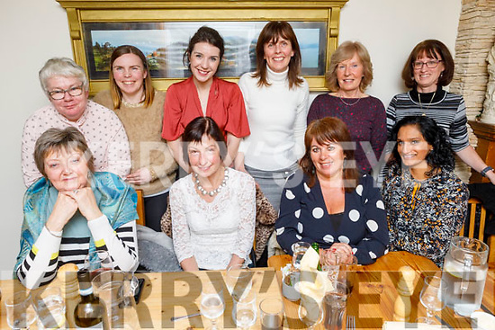 Staff of the Ashe Street Clinic enjoying the evening in Bella Bia on Thursday. <br /> Seated l to r: Mary Barrett, Catherine Doyle, Sandra Leahy and Ramjma Donovan.<br /> Back l to r: Mary Culloty Sheehan, Catherine Fealey, Grainne Coleman, Deirdre Mahoney, Joan Griffin and Juliette Doherty.