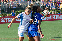 Allston, MA - Saturday August 19, 2017: Monica Hickmann Alves, Ifeoma Onumonu during a regular season National Women's Soccer League (NWSL) match between the Boston Breakers and the Orlando Pride at Jordan Field.