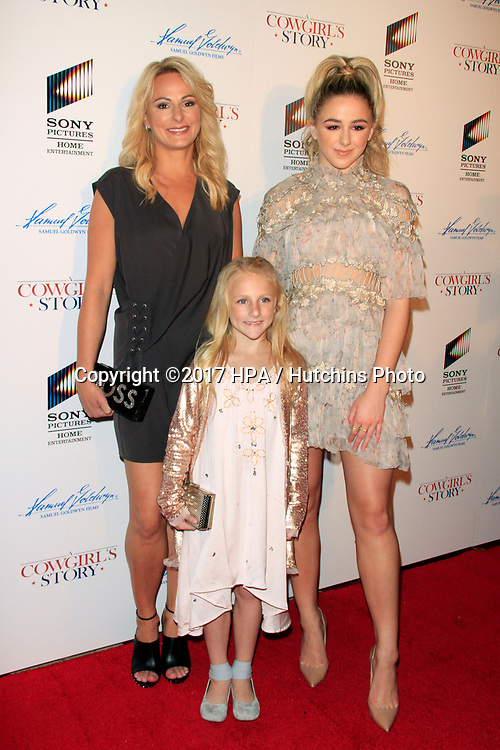 "LOS ANGELES - APR 13:  Christi Lukasiak, Clara Lukasiak, Chloe Lukasiak at the ""A Cowgirl's Story"" Premiere at the Pacific Theatres at The Grove on April 13, 2017 in Los Angeles, CA"