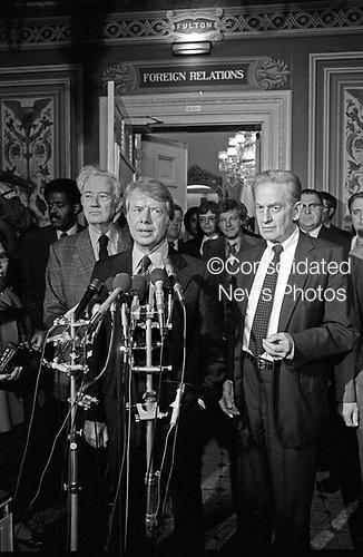 "United States President-elect Jimmy Carter in the US Capitol in Washington, DC on November 23, 1976.<br /> Credit: Benjamin E. ""Gene"" Forte / CNP"