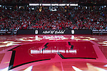 "Wisconsin Badgers salutes the late Albert ""Ab"" Nicholas during halftime of an NCAA Big Ten Conference men's college basketball game against the Ohio State Buckeyes Thursday, January 12, 2017, in Madison, Wisconsin. The Badgers won 89-66. (Photo by David Stluka)"