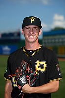 Bristol Pirates pitcher John O'Reilly (50) poses for a photo before a game against the Elizabethton Twins on July 29, 2018 at Joe O'Brien Field in Elizabethton, Tennessee.  Bristol defeated Elizabethton 7-4.  (Mike Janes/Four Seam Images)