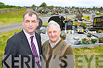 Cllr Michael Cahill and Tim Moriarty who are worried with the lack of space for new graves in Churchtown Graveyard Beaufort..