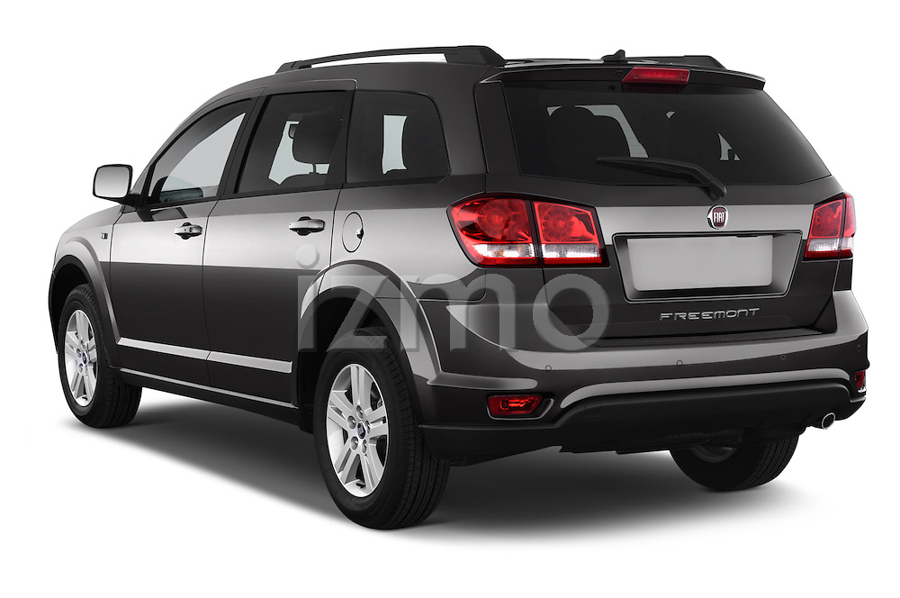 Car pictures of rear three quarter view of a 2014 Fiat FREEMONT LOUNGE 5 Door SUV 2WD Angular Rear