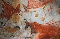 Europe/France/Aquitaine/24/Dordogne/Périgord Noir/Grotte de Lascaux/Lascaux II: Peintures rupestres [Non destiné à un usage publicitaire - Not intended for an advertising use]