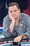 Chris Bell reacts to being eliminated in 5th. place.