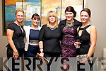 Melissa Ryan, Sharon Walsh, Eileen Keane, Orla Brosnan, Stephanie Nix enjoying the Kerins O'Rahilly Social at Ballyroe Heights Hotel on Saturday