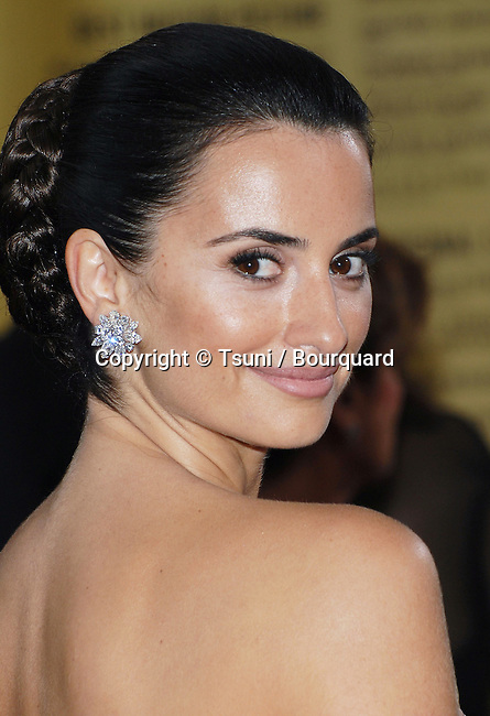 Penelope Cruz arriving at the 79th Academy Awards ( OSCARS ) at the Kodak Theatre in Los Angeles.<br /> <br /> headshot<br /> eye contact<br /> over the shoulder