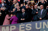 FC Barcelona's president Josep Bartomeu during La Liga match between FC Barcelona and Real Madrid at Camp Nou Stadium in Barcelona, Spain. October 28, 2018. (ALTERPHOTOS/A. Perez Meca)<br /> Barcelona 28-10-2018 Camp Nou <br /> Barcellona - Real Madrid <br /> Liga Campionato Spagna 2018/2019<br /> Foto Perez Meca / Alterphotos / Insidefoto <br /> ITALY ONLY