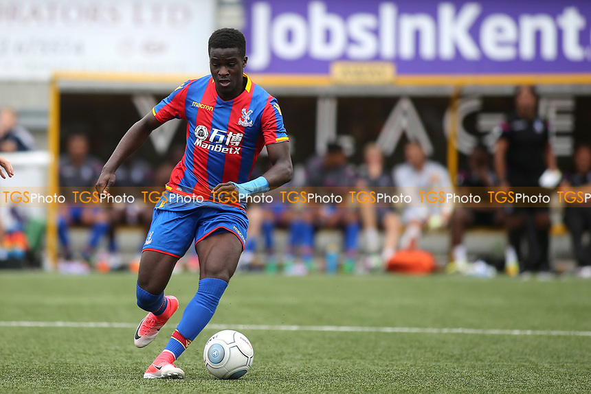 Dion Curtis Henry of Crystal Palace in action during Maidstone United  vs Crystal Palace, Friendly Match Football at the Gallagher Stadium on 15th July 2017