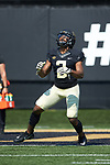 Kendall Hinton (2) of the Wake Forest Demon Deacons warms-up prior to the game against the Notre Dame Fighting Irish at BB&T Field on September 22, 2018 in Winston-Salem, North Carolina. The Fighting Irish defeated the Demon Deacons 56-27. (Brian Westerholt/Sports On Film)