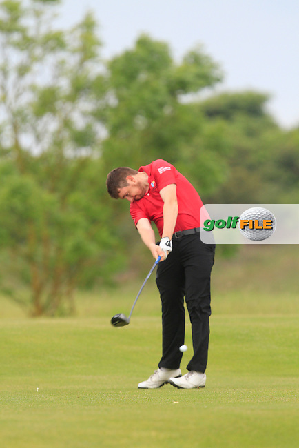 Gerard MacNamara (Portmarnock) on the 7th tee during Round 1 of the Irish Amateur Close Championship at Seapoint Golf Club on Saturday 7th June 2014.<br /> Picture:  Thos Caffrey / www.golffile.ie