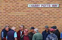Burnley fans arrive at Turf Moor<br /> <br /> Photographer Alex Dodd/CameraSport<br /> <br /> The Premier League - Burnley v Arsenal - Sunday 12th May 2019 - Turf Moor - Burnley<br /> <br /> World Copyright &copy; 2019 CameraSport. All rights reserved. 43 Linden Ave. Countesthorpe. Leicester. England. LE8 5PG - Tel: +44 (0) 116 277 4147 - admin@camerasport.com - www.camerasport.com