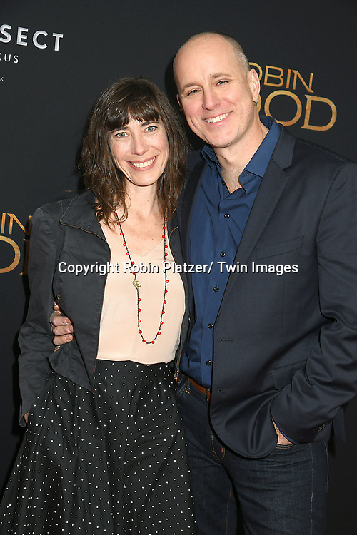 "CarolynHall and actor Kelly AuCoin attends the New York Special Screening of ""Robin Hood"" on November 11, 2018 at AMC Lincoln Square in New York, New York, USA.<br /> <br /> photo by Robin Platzer/Twin Images<br />  <br /> phone number 212-935-0770"