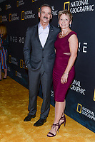 "NEW YORK CITY - MARCH 14: Astronaut Chris Hadfield and Astronaut Peggy Whitson attends National Geographic's ""One Strange Rock"" screening and Q&A at Alice Tully Hall at Lincoln Center on March 14, 2018 in New York City. (Photo by Anthony Behar/NatGeo/PictureGroup)"