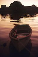 Nova Scotia, Canada, 1967. Peggys Cove Bay at sunset.