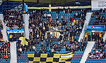 Stockholm 2015-01-04 Ishockey Hockeyallsvenskan AIK - Vita H&auml;sten :  <br /> AIK:s supportrar p&aring; l&auml;ktaren i Hovet under matchen mellan AIK och Vita H&auml;sten <br /> (Foto: Kenta J&ouml;nsson) Nyckelord:  AIK Gnaget Hockeyallsvenskan Allsvenskan Hovet Johanneshov Isstadion Vita H&auml;sten supporter fans publik supporters inomhus interi&ouml;r interior