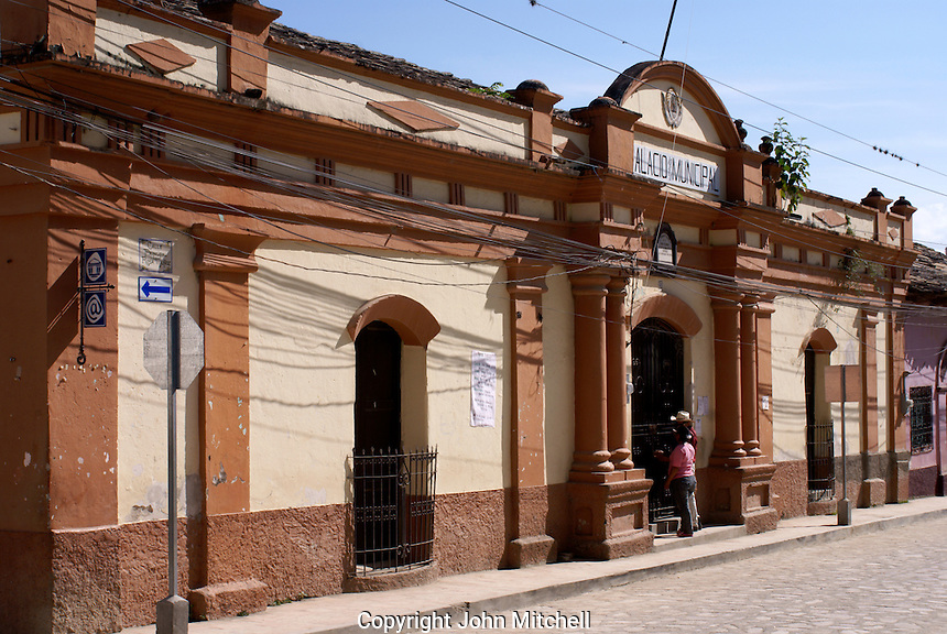 The Municipal Palace or Palacio Municipal in the Spanish colonial town of Gracias, Lempira, Honduras...