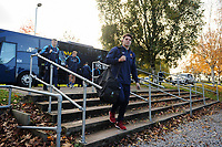 Wynand Olivier and the rest of the Worcester Warriors team arrive at Allianz Park. Premiership Rugby Cup match, between Saracens and Worcester Warriors on November 11, 2018 at Allianz Park in London, England. Photo by: Patrick Khachfe / JMP