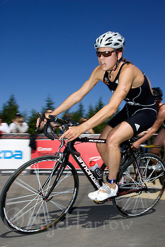 26 JUL 2008 - TREDEGAR, UK - Eventual winner Hollie Avil - British Elite Womens Triathlon Championships. (PHOTO (C) NIGEL FARROW)