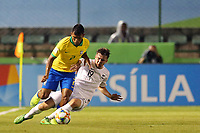 29th October 2019; Bezerrao Stadium, Brasilia, Distrito Federal, Brazil; FIFA U-17 World Cup Brazil 2019, Brazil versus New Zealand; Veron of Brazil goes past Harry Bark of New Zealand - Editorial Use