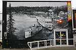 IMAGES OF THE YUKON,CANADA , city of Whitehorse, northern Canada , murals
