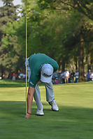 Justin Thomas (USA) retrieves his ball from the cup after holing out his approach shot on 18 during round 4 of the World Golf Championships, Mexico, Club De Golf Chapultepec, Mexico City, Mexico. 3/4/2018.<br /> Picture: Golffile | Ken Murray<br /> <br /> <br /> All photo usage must carry mandatory copyright credit (&copy; Golffile | Ken Murray)