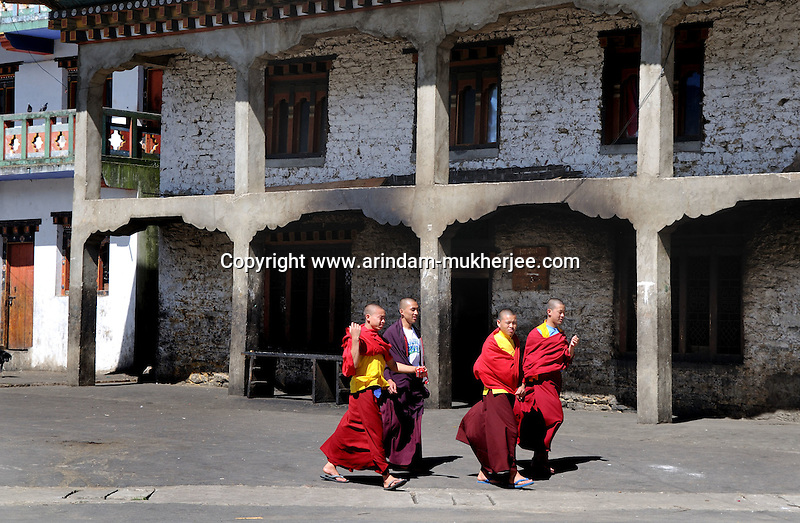 Young lamas at Kharchhu Monastry (which is a buddhist school and college). Arindam Mukherjee