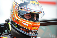 Jun. 16, 2012; Bristol, TN, USA: NHRA top fuel dragster driver Spencer Massey during qualifying for the Thunder Valley Nationals at Bristol Dragway. Mandatory Credit: Mark J. Rebilas-