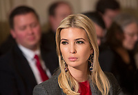 Presidential Advisor Ivanka Trump participates in a meeting with state and local officials regarding the Trump infrastructure plan, February 12, 2018 at The White House in Washington, DC. <br /> CAP/MPI/CNP/RS<br /> &copy;RS/CNP/MPI/Capital Pictures