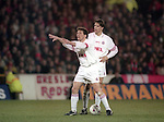 Lothar Matthaus directs his players before a free kick UEFA Cup - quarter final 2nd leg - Nottingham Forest v Bayern Munich - City Ground - Nottingham - England - 19th March 1996 - Picture Simon Bellis/Sportimage