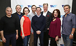 "John Plumpis, Ron McClary, Victoria Mack, Jeffrey C. Hawkins, Scott Alan Evans, Karl Kenzler, Dana Smith Croll and Joel Jones attends the TACT/The Actors Company Theatre Cast Meet & Greet for  ""Three Wise Guys"" on February 15, 2018 at the TACT Studios in New York City."