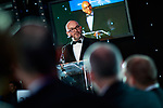 © Joel Goodman - 07973 332324 . 01/03/2018 . Manchester , UK . PAUL O'HALLORAN speaks at the start of the ceremony . The Manchester Evening News Legal Awards at the Midland Hotel in Manchester City Centre . Photo credit : Joel Goodman