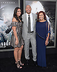 Dwayne Johnson with his daughter and mother attends The Warner Bros. Pictures World Premiere of San Andreas held at the TCL Chinese Theatre  in Hollywood, California on May 26,2015                                                                               © 2015 Hollywood Press Agency
