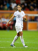 Carli Lloyd.  Japan won the FIFA Women's World Cup on penalty kicks after tying the United States, 2-2, in extra time at FIFA Women's World Cup Stadium in Frankfurt Germany.