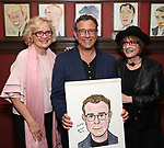 Christine Ebersole, Michael Grief and Patti Lupone attends the Michael Grief Sardi's Portrait Unveiling at Sardi's on 4/27/2017 in New York City.