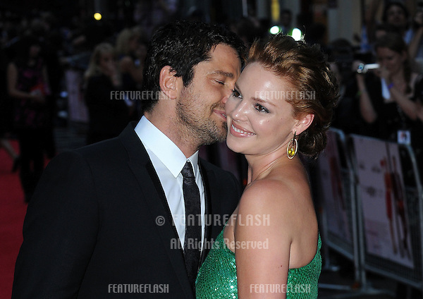 Katherine Heigl and Gerard Butler at the UK Premiere of  'The Ugly Truth' at Vue West End, .{08-04-09} London, United Kingdom.Picture: Gerry Copper / Featureflash..