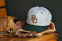 Baylor Bears hat before the NCAA Regional baseball game on June 3, 2012 at Baylor Ball Park in Waco, Texas. Baylor defeated Oral Roberts 5-2. (Andrew Woolley/Four Seam Images)