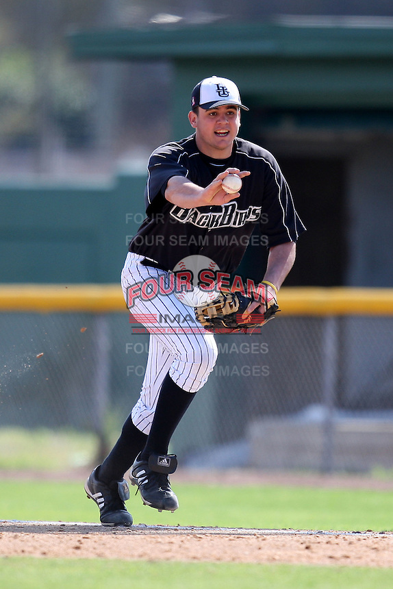 March 13, 2010:  First Baseman Tito Marrero (17) of Long Island University Blackbirds in a game vs. Army at Henley Field in Lakeland, FL.  Photo By Mike Janes/Four Seam Images