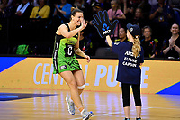Pulse&rsquo; Claire Kersten, ANZ Premiership - Pulse v Magic at TSB Bank Arena, Wellington, New Zealand on Sunday 21 April 2019. <br /> Photo by Masanori Udagawa. <br /> www.photowellington.photoshelter.com