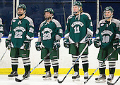 Chris Mohar (Plymouth State - 22), Brian Johnson (Plymouth State - 23), Kyle Weiland (Plymouth State - 11), Travis Stevens (Plymouth State - 18) - The visiting Plymouth State University Panthers defeated the Salem State University Vikings 3-2 on Thursday, December 1, 2011, at Rockett Arena in Salem, Massachusetts.