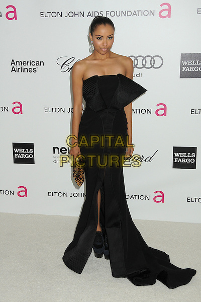 Kat Graham.20th Annual Elton John Academy Awards Viewing Party held at West Hollywood Park, West Hollywood, California, USA..February 26th, 2012.full length black strapless dress.CAP/ADM/BP.©Byron Purvis/AdMedia/Capital Pictures.