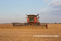 63801-07207 Soybean harvest with Case IH combine in Marion Co. IL